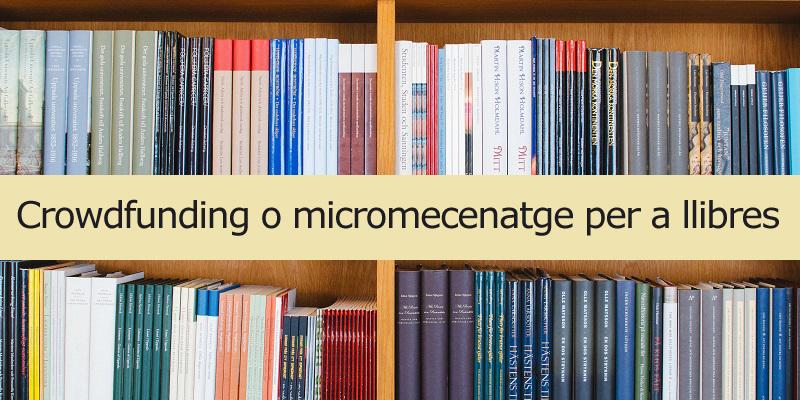 Micromecenatge per a llibres