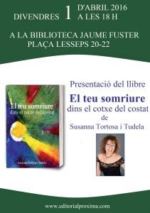 Susanna. Cartell presentació 1.04.2016