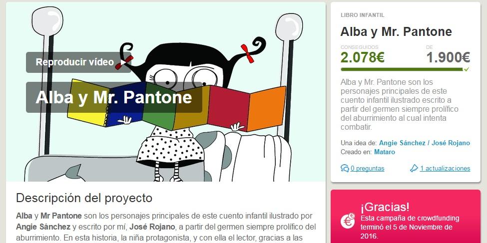 Libro infantil Alba y Mr Pantonne