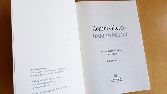 Llibre Òmnium Mataró